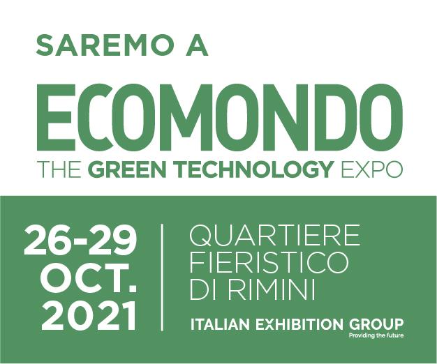 Ecomondo dal 26 al 29 ottobre 2021, padiglione D5 – Stand 196